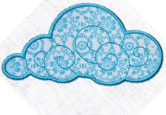 Cuddly Cloud Applique machine embroidery files 4x4 , 5x7 - pes, sew, xxx, pec…