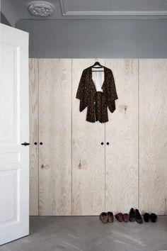 Plywood closet