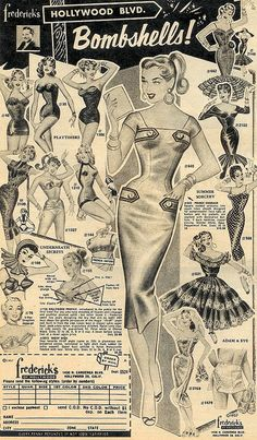 50's Frederick's of Hollywood - Risque fashions at the time, but how tame they look now.