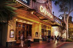 Historical Granada Marquee of the Granda theater Santa Barbara  #SantaBarbaraHoliday