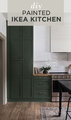 Home Interior, Kitchen Interior, Eclectic Kitchen, Simple Interior, Interior Paint, Cheap Home Decor, Diy Home Decor, Home Decoration, Green Kitchen Designs