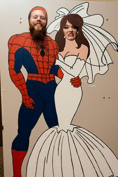 Superhero Wedding - fun cutout photo for guests