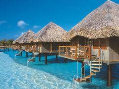 The Amazing Beach Bungalows of Hotel Matira in Bora Bora Island