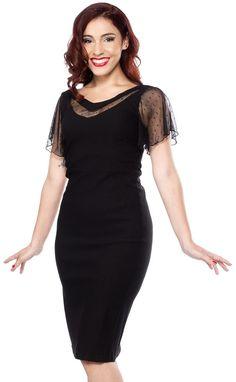 STEADY JESSIE DRESS BLACK http://www.sourpussclothing.com/gals/dresses/steady-jessie-dress-black.html