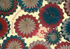 Pleated Rosette Tutorial. http://thepapercraftpost.blogspot.co.uk/2015/10/pleated-rosette-ornament-tutorial.html