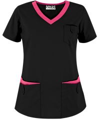 Scrubs Outfit, Scrubs Uniform, Medical Uniforms, Work Uniforms, Black Scrubs, Womens Scrubs, Medical Scrubs, Scrub Tops, Costume