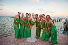 @Jackie Rodriguez - kelly green dresses (beach wedding)