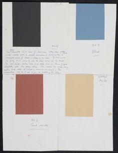 Gordon Walters, Colour swatches for Kura, circa 1982, acrylic on card,
