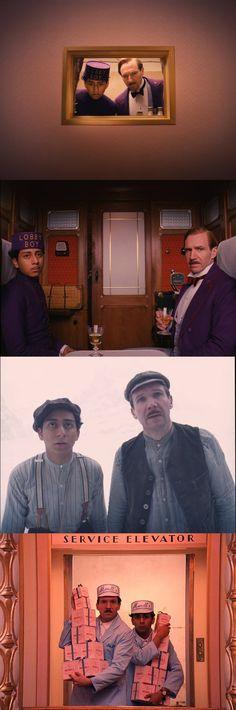 Ralph Fiennes & Tony Revolori in The Grand Budapest Hotel. Costumes by Milena Canonero