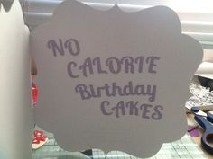 Inside of my cake card