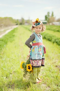 """harvest blossom mini hat to complement Matilda Jane Clothing collection """" you&me"""""""