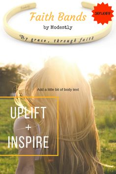 Get this modest yet fashionable faith band for 50% off with discount code. FREE shipping available on orders of $30. Be sure to pin this to save this awesome offer. Click through to website to get coupon code.
