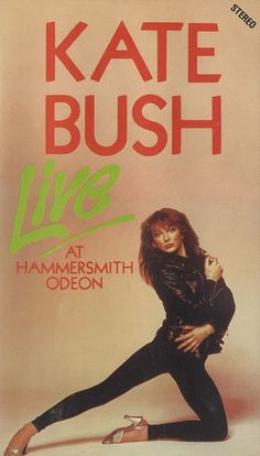 """""""Kate Bush Live At Hammersmith Odeon"""" - VHS video."""
