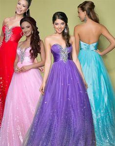 Blush 5226 Sparkly Long Prom Dress