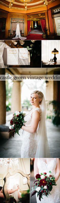 Vintage Holiday-esque Wedding at Castle Green, Pasadena, California. Red-Green-White-Palatte.  teri b photography.