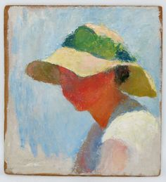 CHARLES WEBSTER HAWTHORNE (American, 1872-1930) - woman wearing a sun bonnet - 'Mudhead' - an original term Hawthorne used to describe his method of painting the color and shape of light with disregard for detail and features. - in 1899, founded the Cape Cod School of Art in Provincetown, Mass.