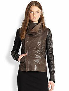 Vince - Colorblock Leather Jacket