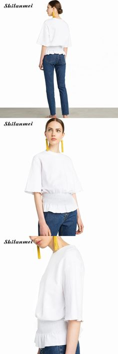 shilanmei Cotton shorts Sleeve Women Blouse Summer Style Shirt Women White Blouse Female Top Ladies Office Shirts For Women