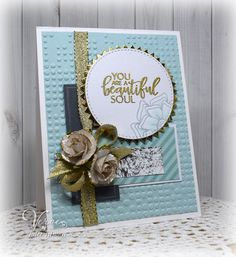 Handmade card by Julee Tilman using the Beautiful Things stamp set from Verve. #vervestamps