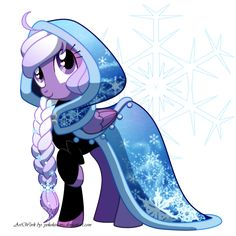 Elsa - though i'd make her white or light blue... and she'd be a unicorn.. hence the MAGIC... =b  but still cool