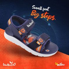 These are thoughtfully designed footwear for your kids. Help them take the big steps comfortably. #Walkaroo #BeRestless