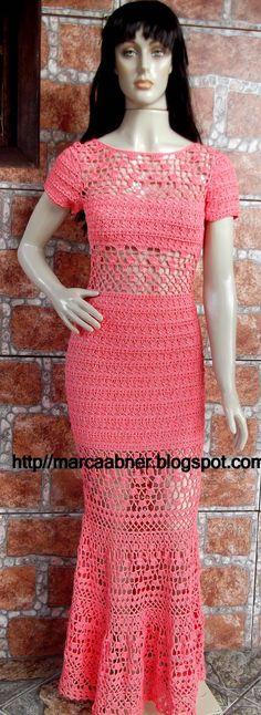 Marcinha crochê: Vestido de crochê taila