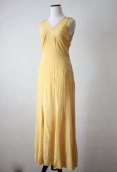 1920s dress  20s mustard silk gown by 1919vintage on Etsy, $268.00
