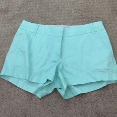 "Mint green chino shorts NWOT. 3"" inseam. J. Crew Shorts"