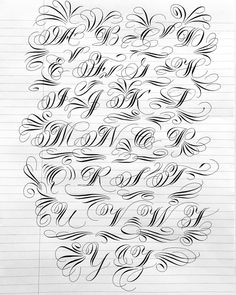 Playing with some Variations… And I had to add Flourishes! ♥️ Playing with some Variations… And I had to add Flourishes! Alphabet Cursif, Calligraphy Letters Alphabet, Tattoo Fonts Alphabet, Hand Lettering Alphabet, Graffiti Alphabet, Calligraphy Handwriting, Tattoo Lettering Styles, Graffiti Lettering Fonts, Chicano Lettering