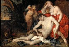 Venus mourning the death of Adonis by Thomas Willeboirts Bosschaert. Nationalmuseum Sweden, CC BY-SA