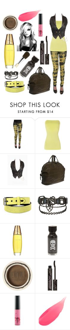 """new emo style"" by manessa ❤ liked on Polyvore featuring Jane Norman, Givenchy, AllSaints, Estée Lauder, Hot Topic, Urban Decay, MAC Cosmetics, Stila and Chantecaille"