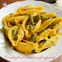 Conchiglioni cremosi agli asparagi, un piatto squisito e avvolgente, veramente goloso e semplice! vi conquisterà al primo assaggio.