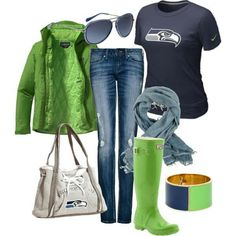 If you don't know already, I'm a Washington State gal, so the Superbowl is SUPER exciting this year! Now I'm not one to take fashion advice from, but here are a few Pinterest ideas on what to wear to a Super Bowl Party that I thought looked fun. Source Source Source Source Source Source Source […] Home Team, Seattle Seahawks, Seahawks Football, Seattle Football, Football Fever, 12th Man, Blue Friday, Seattle Fashion, Hunter Boots