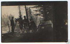 pc912 postcard Real Photo Campfire | eBay