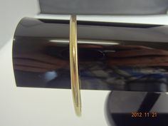 Gold Pre Loved 9ct Solid Yellow Gold 66.3mm Bangle 17.8grms | eBay