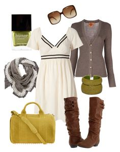 """""""lemon lime"""" by htotheb ❤ liked on Polyvore featuring Butter London, Tory Burch, Twist & Tango, Steve Madden, DANNIJO, Gucci, Alexander Wang, yellow, green and brown"""