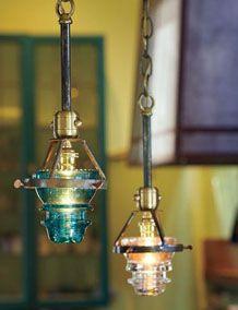 Repurposed Insulator Pendant Light