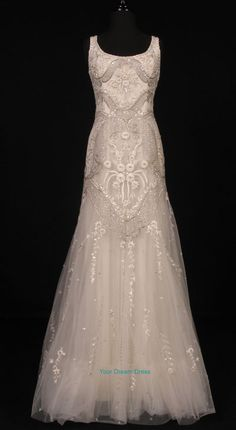 I love the detail in this wedding dress.