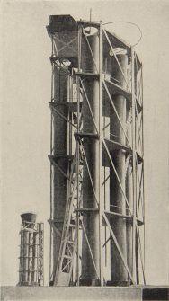 Second course, revelation of form in space, by VKhUTEMAS student I Grushenko 1922, studio of Nikolai Ladovskii