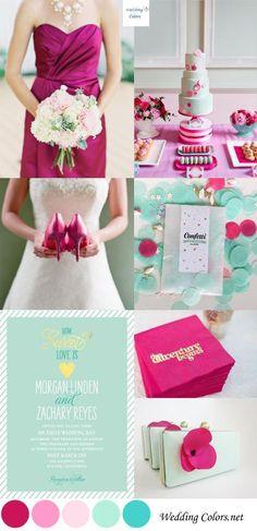 Fuchsia & Mint Wedding Palette