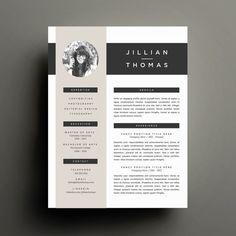 Lettre de motivation et modèle de CV créatif pour mot | CV imprimable bricolage 4 Pack | Design moderne Page 2