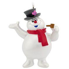 Hallmark Frosty the Snowman Christmas Ornament. #Christmas #NewYear #Ornament #Decor #giftidea #Gift #gosstudio .★ We recommend Gift Shop: http://www.zazzle.com/vintagestylestudio ★