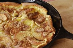 cinnamon apple dutch oven pancakes