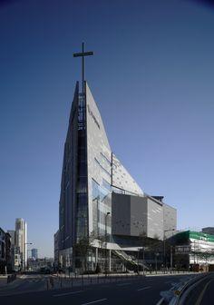 Iglesia de la Comunidad de Sarang by Seoinn Design Group (Gyeonggi-do, Corea del Sur) #architecture