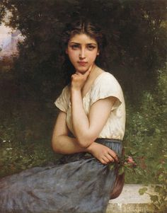 Art painting - Jules Cyrille Cavé (French, 1859 c Day Dreams – Art painting Classic Paintings, Old Paintings, Beautiful Paintings, French Paintings, Renaissance Kunst, Renaissance Paintings, Renaissance Portraits, Classical Art, Fine Art