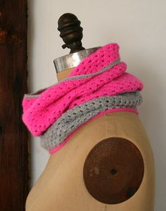 two color crocheted cowl - purl bee. @Blair Stocker this reminds me of you!