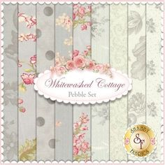 3 Sisters for Moda: Whitewashed Cottage in Pebble | Shabby Chic quilting fabric