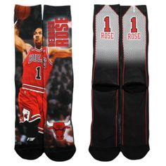 164594a84a28 For Bare Feet NBA Sublimated Player Socks - Men s - Chicago Bulls - Derrick  Rose -