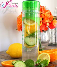 For a cooling citrusy twist add cucumber mint and a lemon into a orange detox water. Ab Routine, Cucumber, Detox, Healthy Living, Good Food, Fit Club, Blog, Abs, Health Fitness