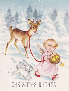 8 Vintage Repro Christmas Cards on Fabric Panels for Crafting Squares U pick 1